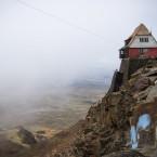 The famous abandoned ski lodge at Chacaltaya.