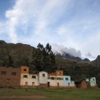 The Illimani glacier as seen from the community of Khapi.