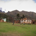 The almost-flat football pitch in Khapi which also serves as the gathering spot for community assemblies. The younger generation are likely to move into the cities as they witness their ancestors means of subsistence being quickly jeopardized by glacial loss.